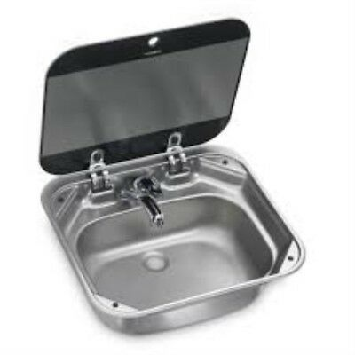 Dometic VA80050007US34 Stainless Steel Sink With Faucet Hole Square