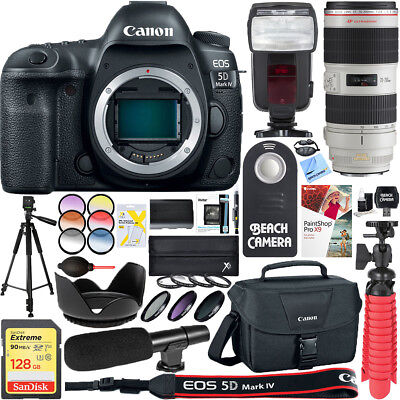 Canon EOS 5D Mark IV Digital SLR Camera with EF 70-200mm IS II USM Lens Bundle