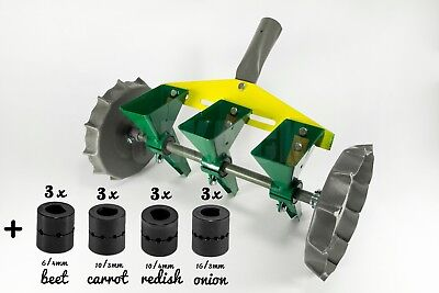 Garden Metal Precision Seeder Vegetable 3 Row Manual Planter sowing small seeds