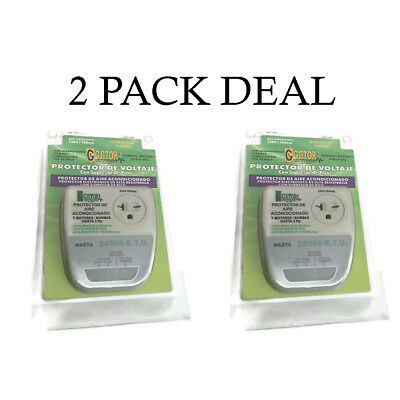 2-PACK 220V Surge Brownout Voltage Protector 4400 Watts AC - Freezer