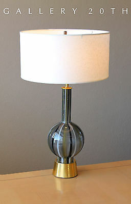 Rare Gorgeous Mid Century Modern Table Lamp 50s Vtg Glass Italy