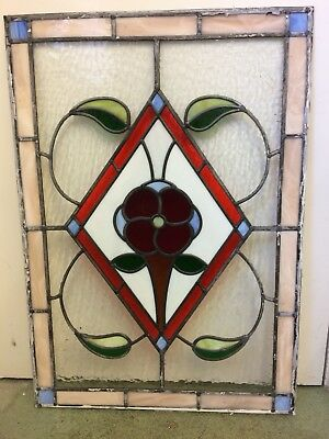 2 Beautiful Large Antique Vintage Stained Glass Panels. Stunning!