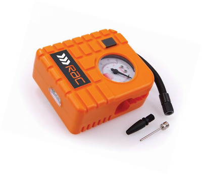 RAC HP223 12V Compact Inflator - Built-In Light - For Cars, Motorcycles, Inflata