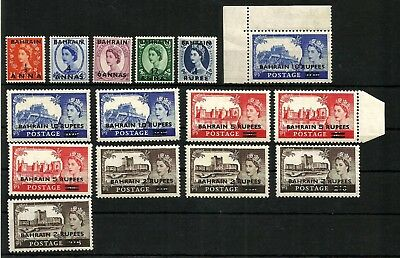 Bahrain 1955-60 High values set including types I, II and probably III, SG 94-96