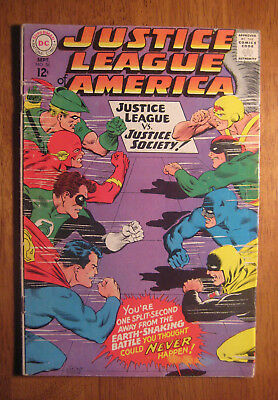 JUSTICE LEAGUE OF AMERICA #56, 1967 (FN) Justice Society, Wonder Woman!