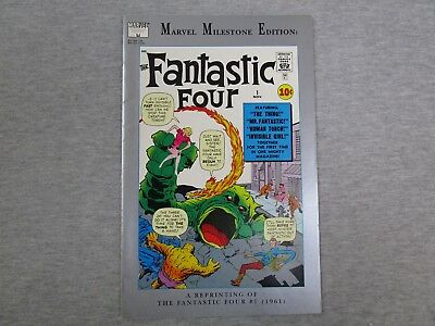 Marvel Milestone Edition Fantastic Four 1 Comic Book reprint facsimile 1991