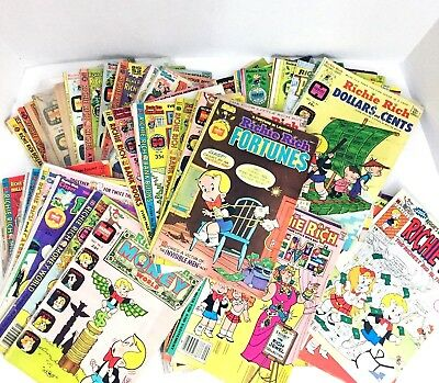 Vintage Richie Rich Comic Books Collection Lot of 61 Excellent Condition 60s 70s