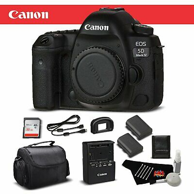 Canon EOS 5D Mark IV DSLR Camera (Body Only) 1483C002 - Bundle with Memory Card