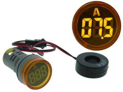 Amp Meter Round AC 0-100A Yellow LED *35155 ME