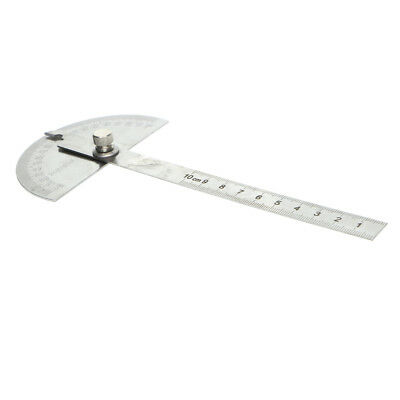 Stainless Steel 180 Degrees Protractor Angle Finder Rotary Measuring Ruler