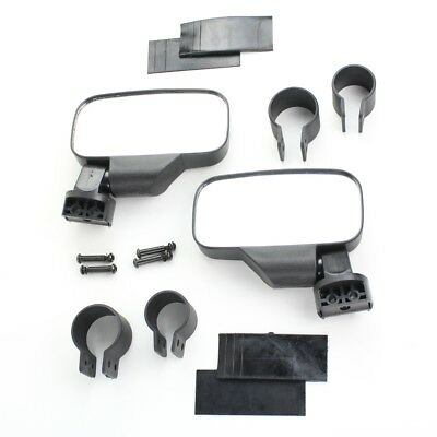 Black UTV Side View Mirror Kit for Polaris RZR XP 570 800 900 1000