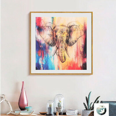 Wall Art Oil Painting Pictures Print On Canvas Colorful Elephant Artworks