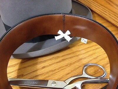 Vintage Fedora Hat Leather Replacement Sweatband Cut Sewn To Size.Assorted Color