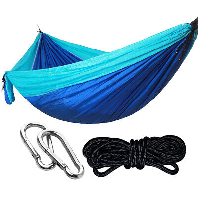 Double 2 Person Hanging Bed Sleeping Swing Portable Outdoor Camping Hammock