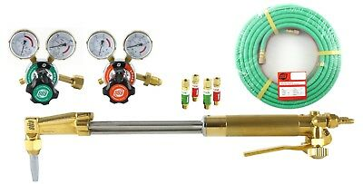 """SÜA 18"""" Heavy Duty Cutting Torch Set Compatible with Harris 50' Hose PROPANE"""