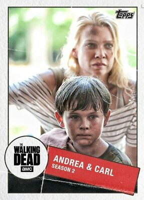 TOGETHER MARATHON WAVE1 ANDREA &  CARL (S2) Topps Walking Dead Trader Digital