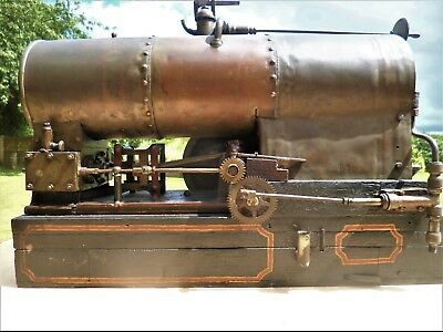 Vintage Over Type Twin Compound Steam Engine