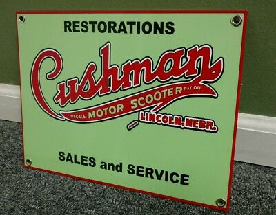 Cushman scooter sign