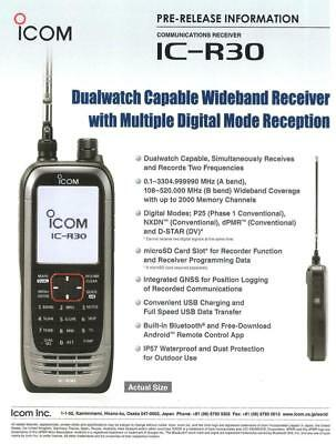 ICOM IC -R30 RECEIVER LARGE BAND D-STAR / NXDN / dPMR / APCO P25 / SSB / CW