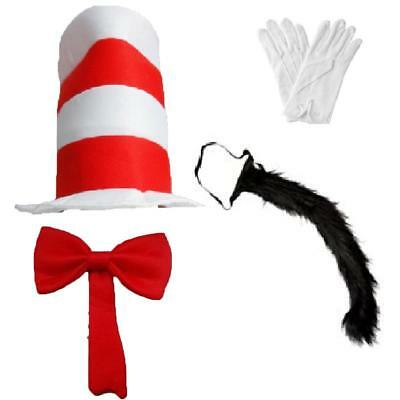 Fancy Dress Cat Hat In The Hat Book Day Week Kit Seuss Birthday Children Adults