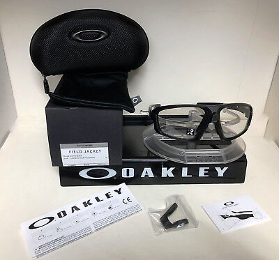 335179ba7eff8 Oakley Field Jacket Sunglasses Matte Black   Clear Black Iridium Oo9402-0664