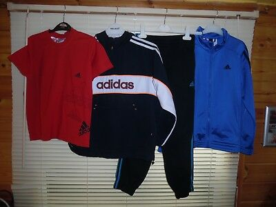 Adidas Bundle X 4 TRACKSUIT JACKET BOTTOMS T-SHIRT *Aged 9-10 Years* SOME NEW!!