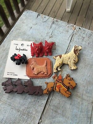 Vintage Collection of Scottie & Miscellaneous Dog Pins