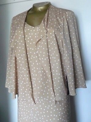 Wedding Guest/Race Day, Dress and Jacket Size Plus size 26 NWT £264 Ann Harvey