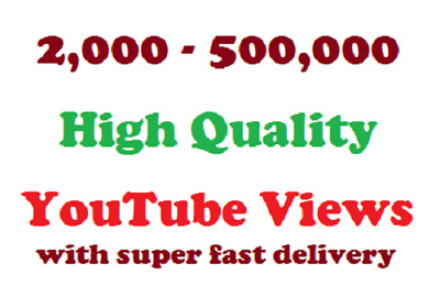 YouTube Service | Super Fast Delivery | High Retention | Best Quality | Cheapest