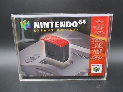 Expansion Pack N64 OVP OHNE Modul Mit Ninodo Acryl Game Case UV Absorptiv