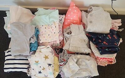 70 x toddler clothing. Baby. Girl. Sizes 00-1. Sprout. Dress. Tights. BULK.