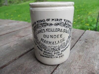 Antique Pottery Crock James Keiller & Sons DUNDEE MARMALADE MALING K 1862 1873