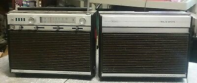 Sears Portable Stereo 8 Track Player Solid State Vintage boombox 250.21300200