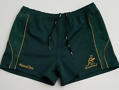 Mens Size 38/XL - KOOGA Australia Wallabies Rugby Union Shorts (excellent cond.)