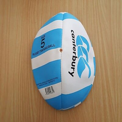 (NEW) Size 5 - CANTERBURY Instinct Rugby Training Ball Blue & White