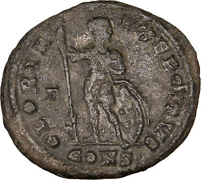 CONSTANTINE I the GREAT 327AD Authentic Ancient Roman Coin w SOLDIER Rare i12765