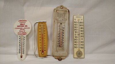 Vintage Thermometer Lot, Different Advertising, Metal and Plastic, Varied Styles