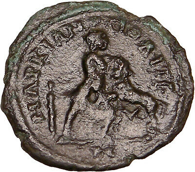 MARCIANOPOLIS 200AD Ancient Greek Coin under Romans HERCULES Fights LION i14136
