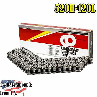520 Heavy Duty Motorcycle Chain 120 Links with 1 Connecting Link