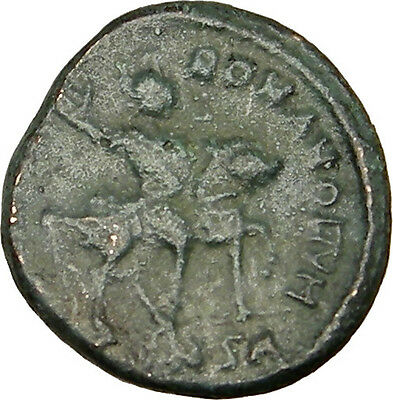 THEODOSIUS I the Great HORSE Authentic Ancient Constantinople Roman Coin i14164