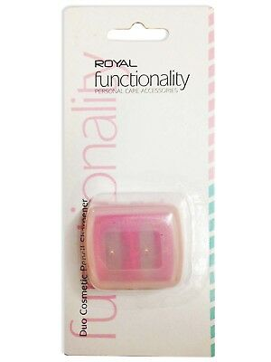 Royal Cosmetic Duo Cosmetic Pencil Sharpener With Case 2 Sizes Lip Eye Crayon