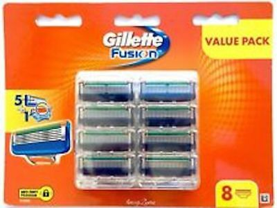 Gillette Fusion Razor Blades 8 Pack  Made In Germany New & Sealed