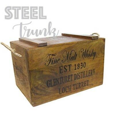 Fine Malt Whisky Retro Vintage wooden chest/storage box