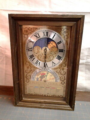 Vintage Fairfield Planters Clock with Moon Phase and Zodiac Dials
