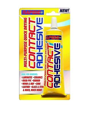 Rapide 70g Multi- Purpose Contact Adhesive Ceramic Wood Leather Glass Quick Dry