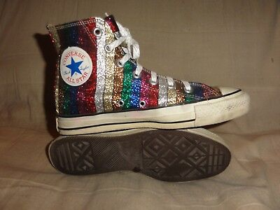 Vintage Converse Colored Lame High Tops Made In Usa Size 6 Mens