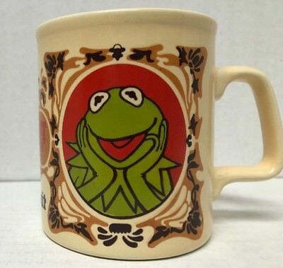 Kermit the Frog Ceramic Coffee Tea Mug The Muppets Kiln Craft Vintage Jim Henson