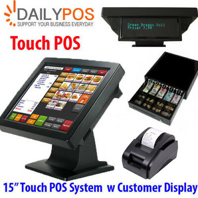 Touch POS System for Restaurant Cafe Pizza Bar Fish Chips Club Juice Takeaway