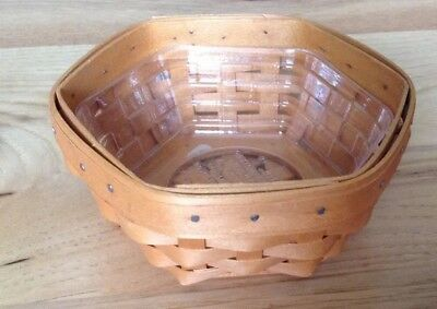 2001 Longaberger Hostess Sage Booking Basket with Plastic Protector