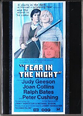 Fear In The Night Dvd=Judy Geeson-Joan Collins-Peter Cushing=Region 0=Like New
